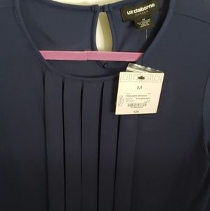 Liz Claiborne Navy Blouse Size Medium NWT
